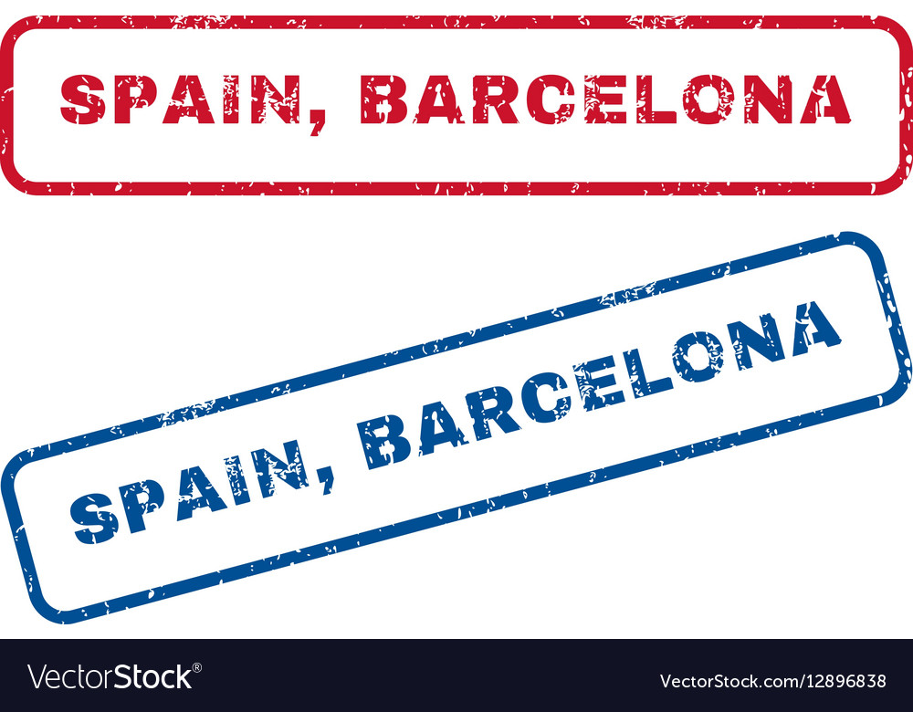 Spain Barcelona Rubber Stamps vector image