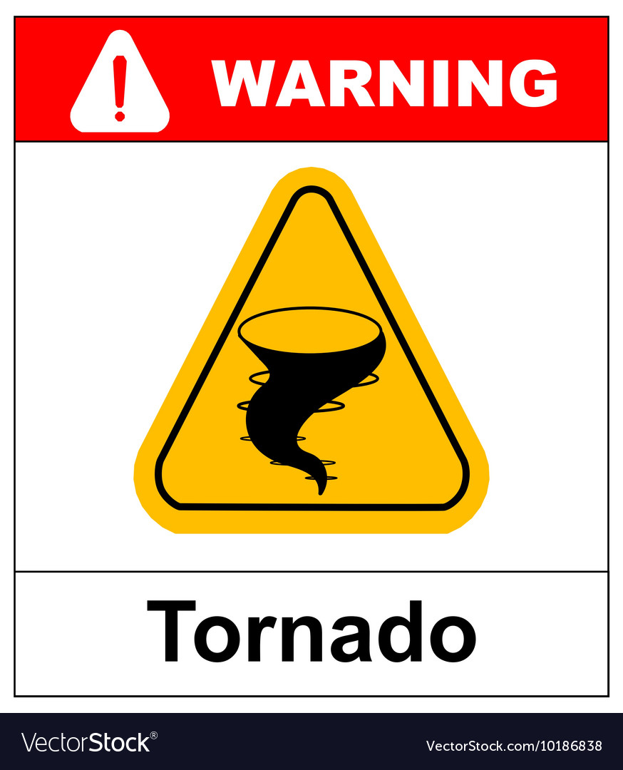 Warning tornado sign vector image