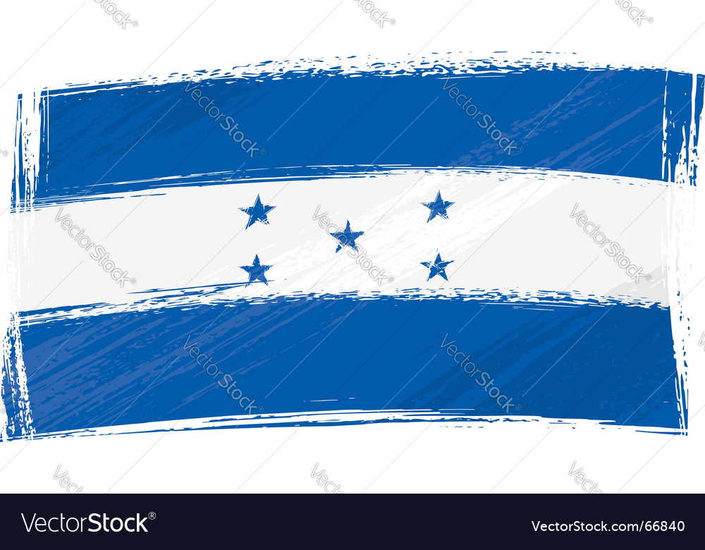 Grunge Honduras flag vector image