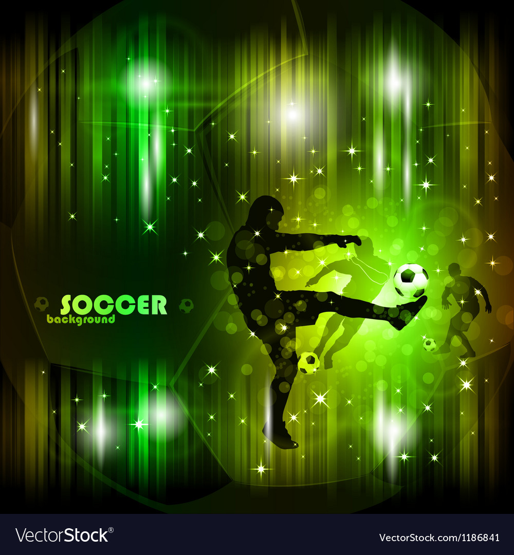 Colorful abstract soccer poster vector image