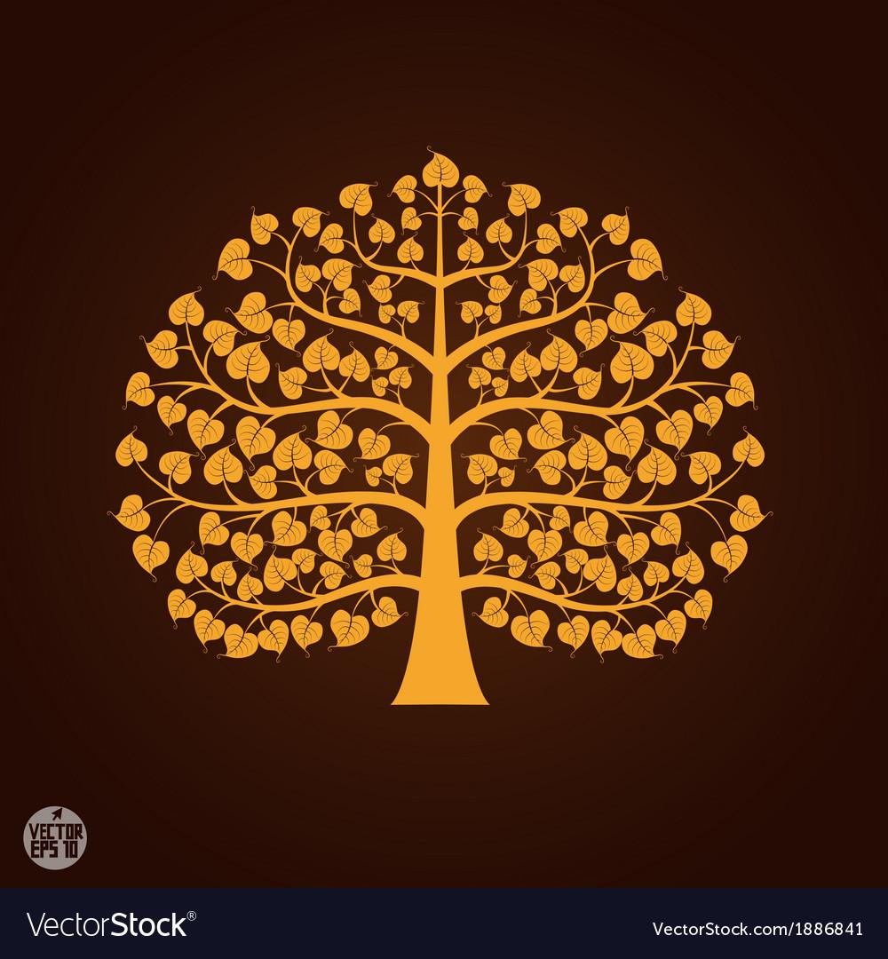 Golden bodhi tree symbol royalty free vector image golden bodhi tree symbol vector image biocorpaavc Choice Image
