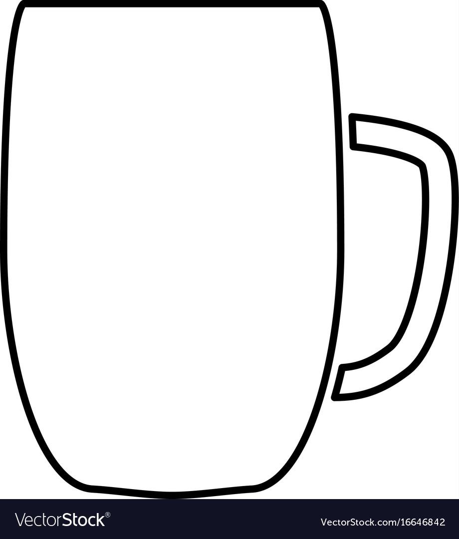 Beer mug black color icon vector image