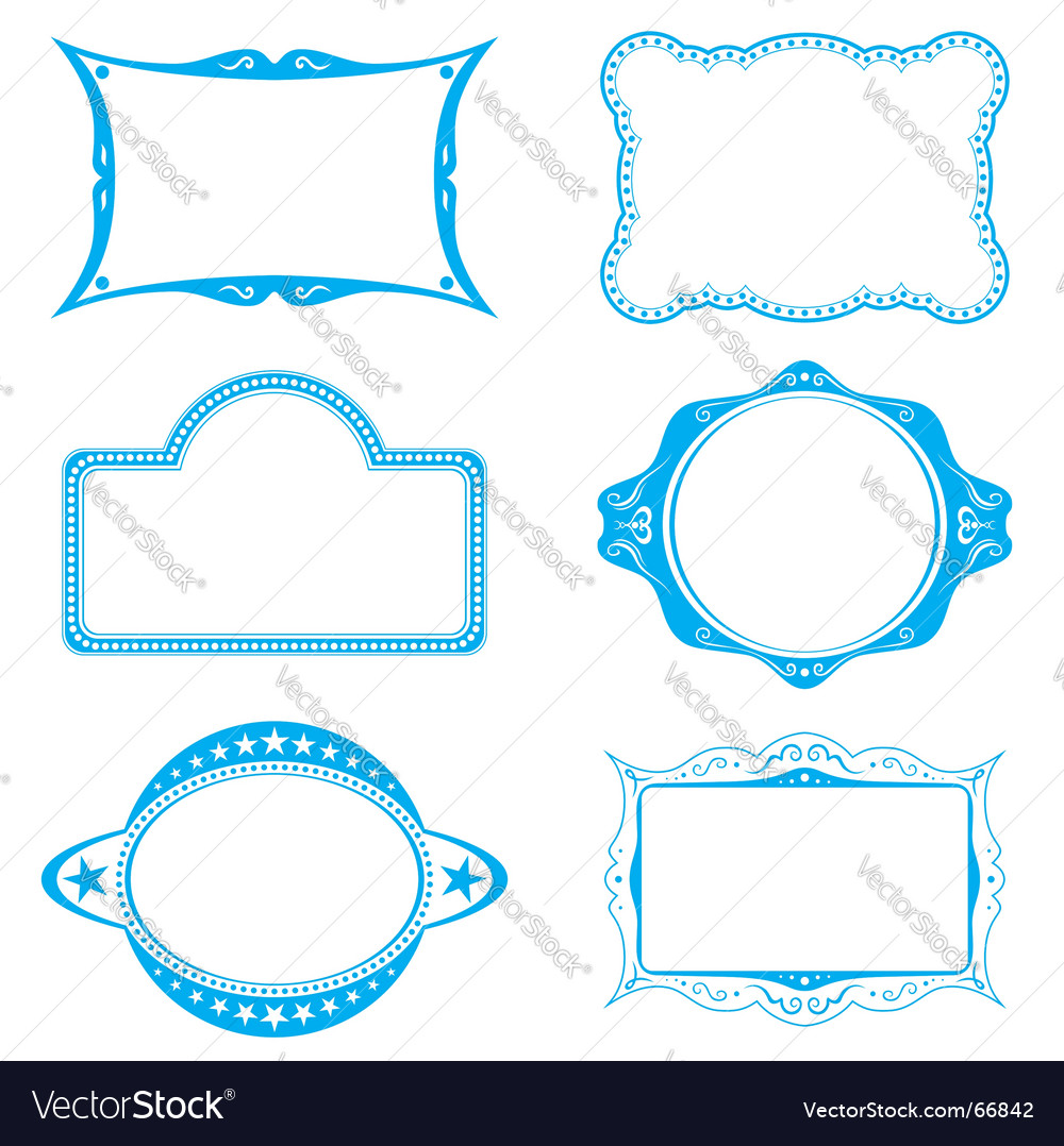 Frame set vector image