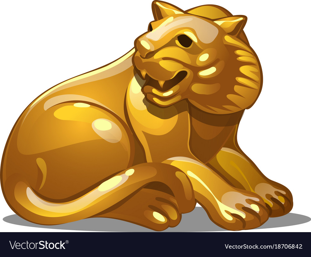 Golden figure of tiger chinese horoscope symbol vector image golden figure of tiger chinese horoscope symbol vector image biocorpaavc
