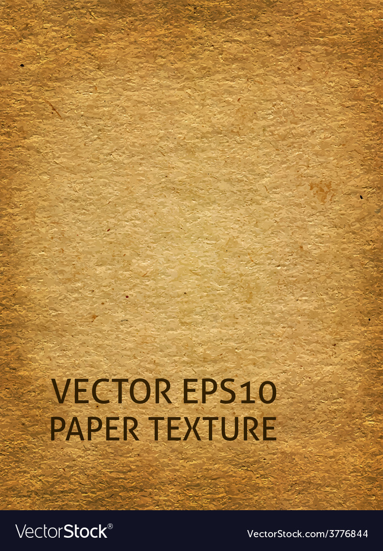 Aged craft paper background vector image