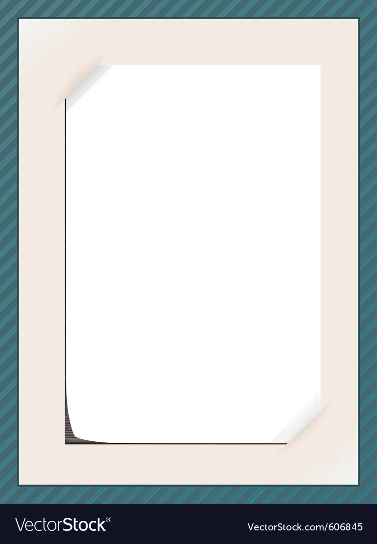 Message frame vector image