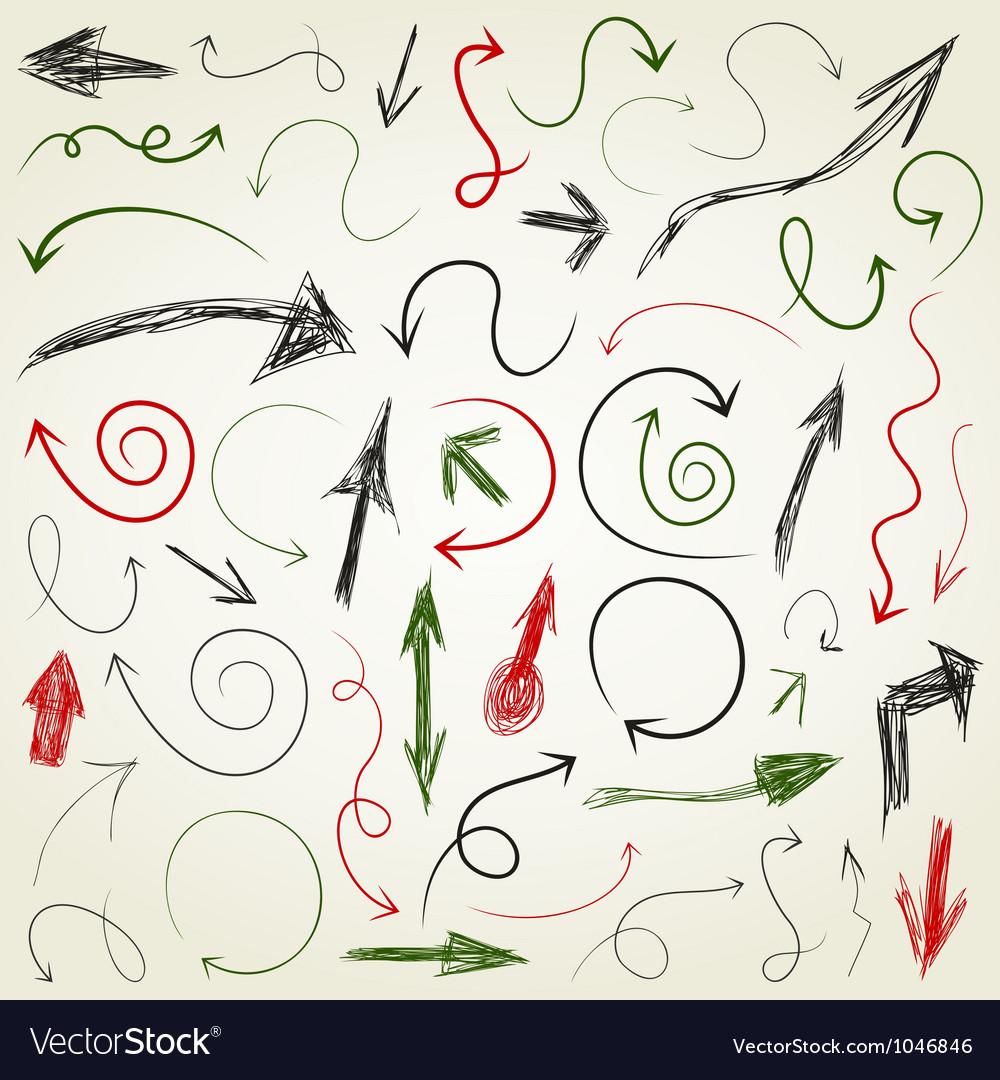Arrow drawing5 vector image