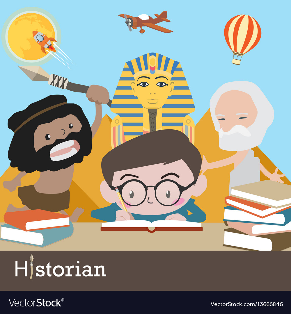 Historian occupation vector image