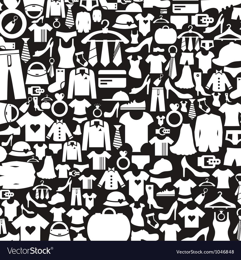 Background clothes3 vector image