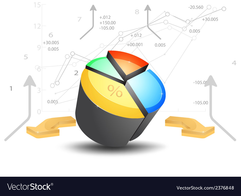 Business pie chart with graph on a white vector image business pie chart with graph on a white vector image nvjuhfo Image collections