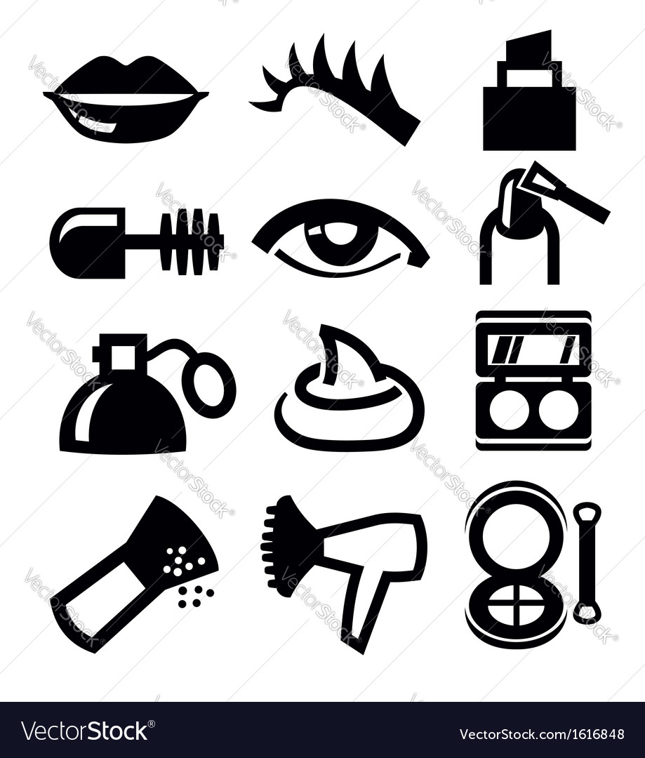 cosmetics and makeup icon royalty free vector image