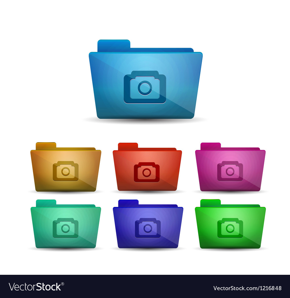 Photo folder vector image