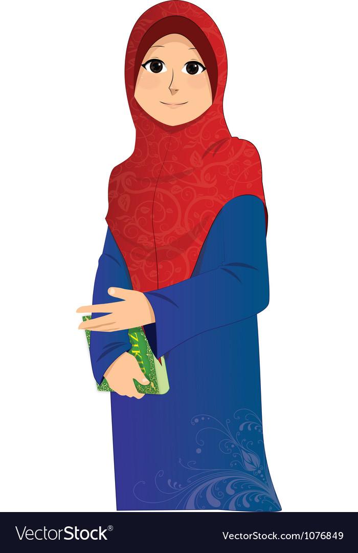 Islamic Girl vector image