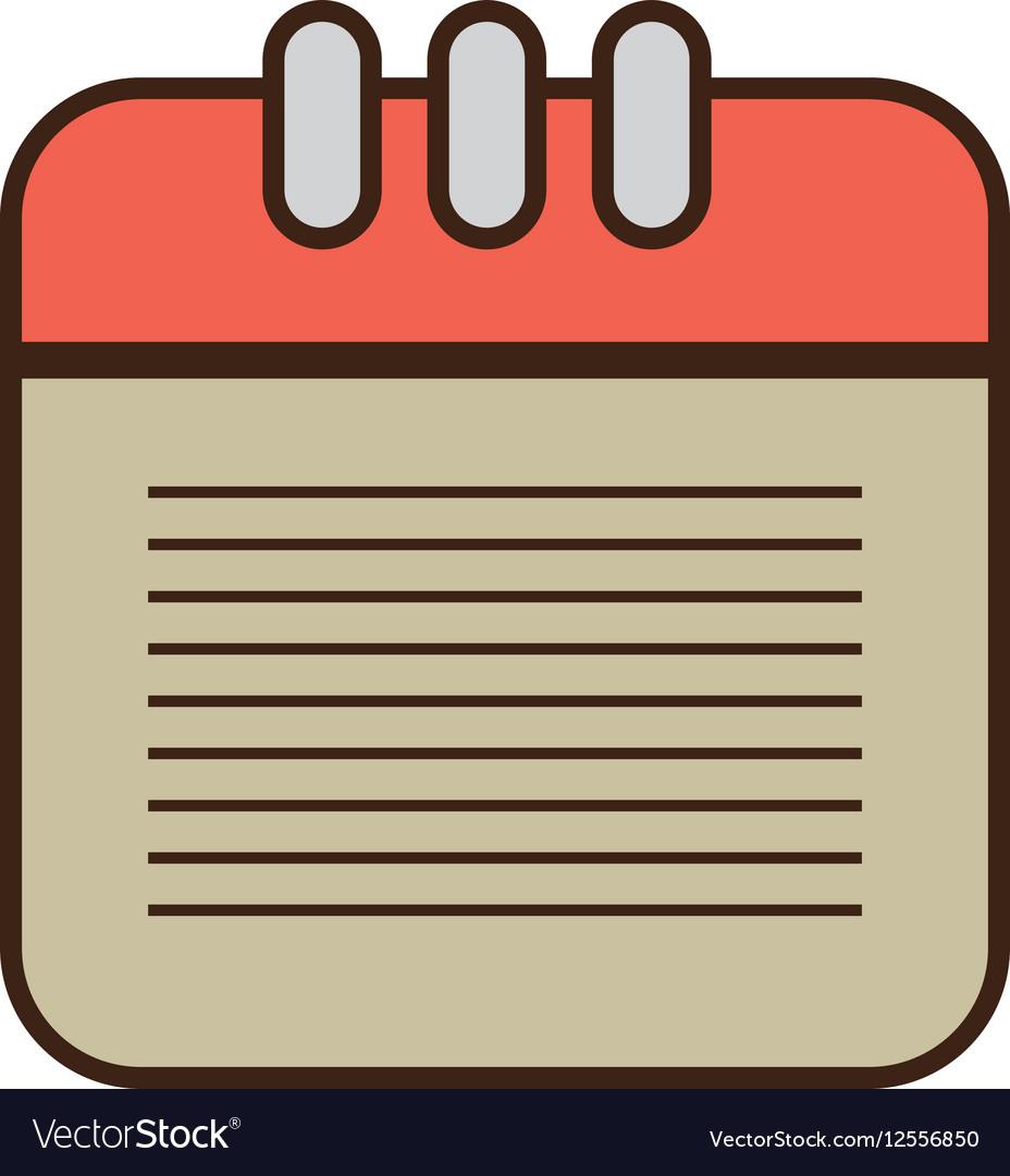 Cartoon calendar date month plan desing vector image