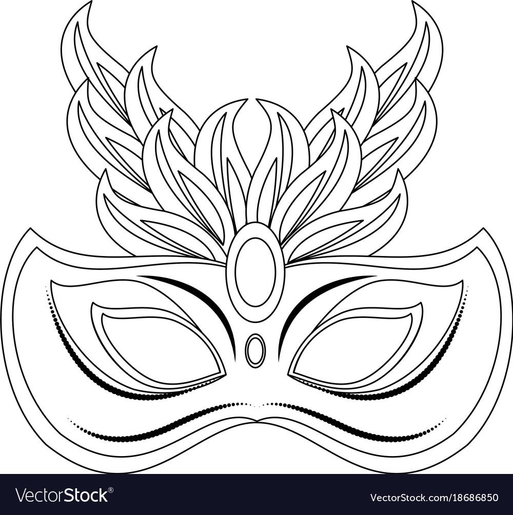 Mardi gras mask Royalty Free Vector Image - VectorStock