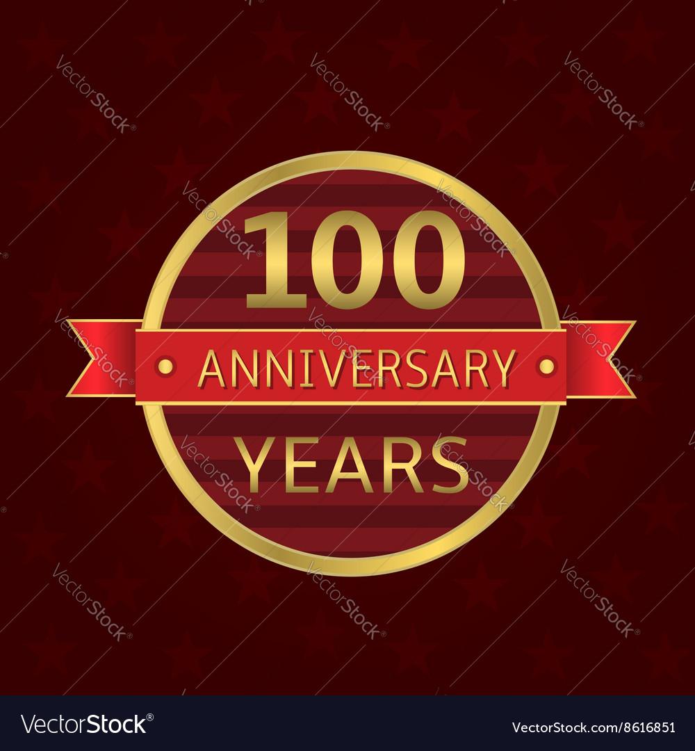 100 years anniversary vector image