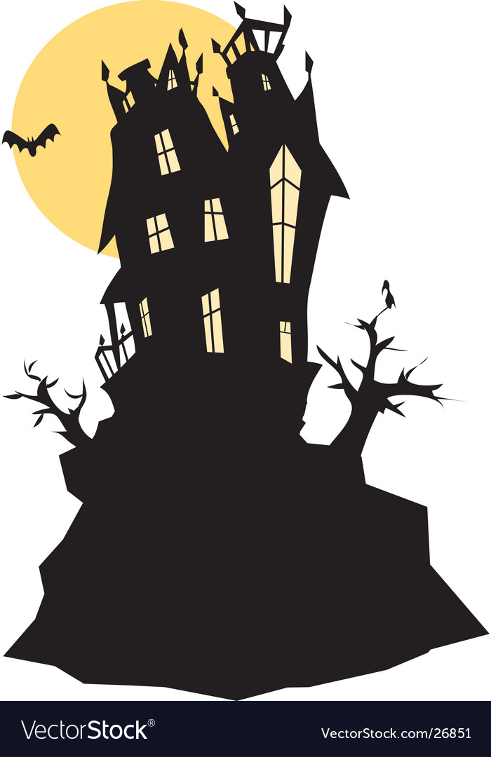 haunted house royalty free vector image - vectorstock