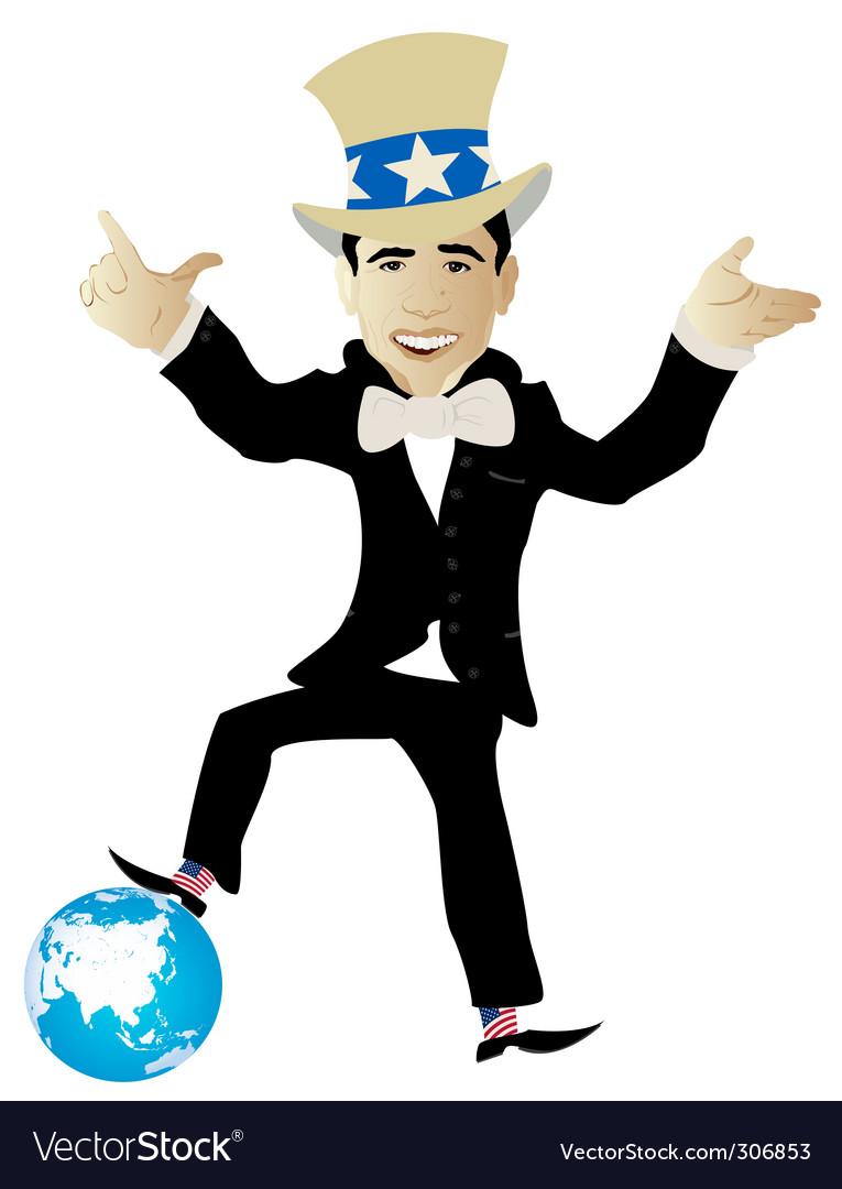Politician globe Vector Image