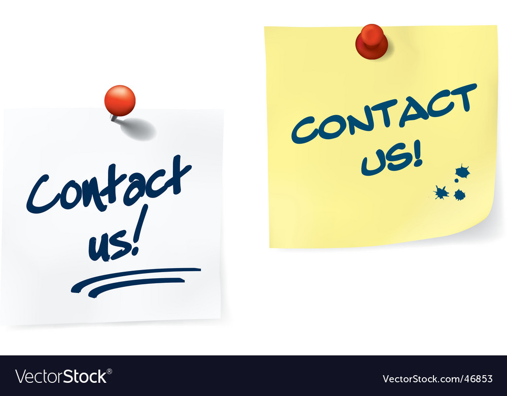 Contact us notes set vector image