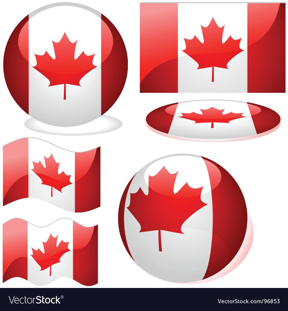 canada flags royalty free vector image vectorstock