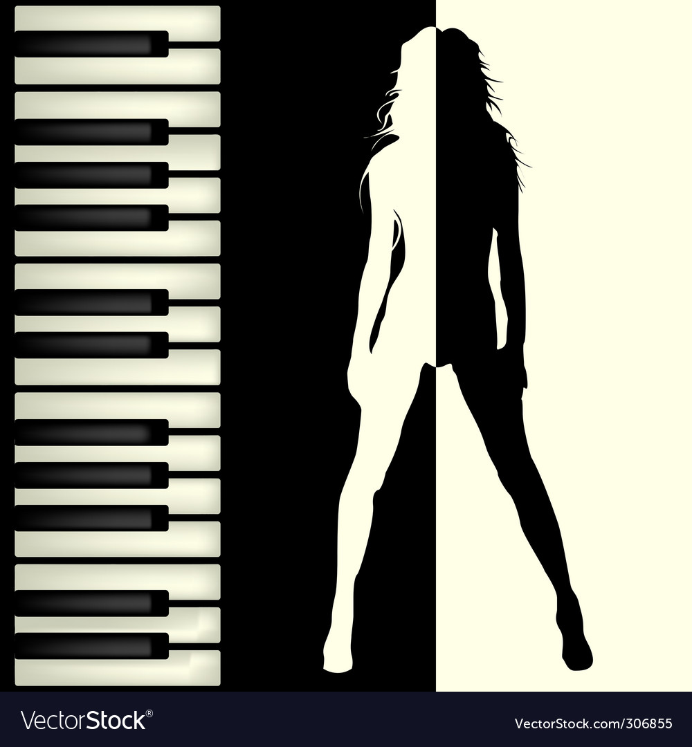 Piano bar Vector Image