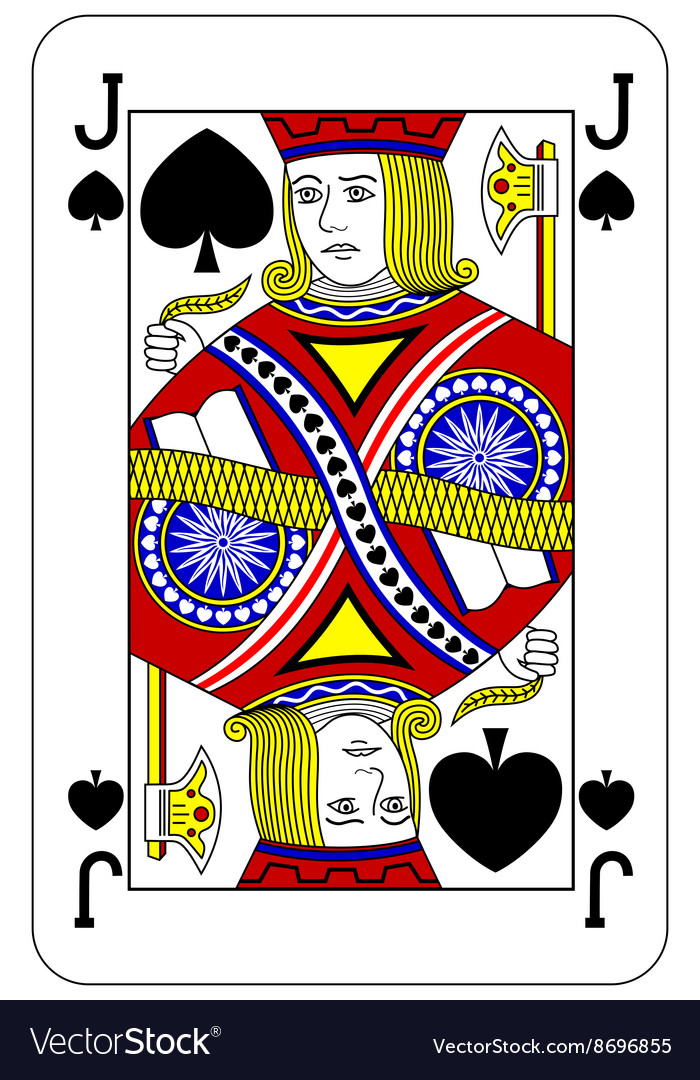 Poker playing card Jack spade vector image