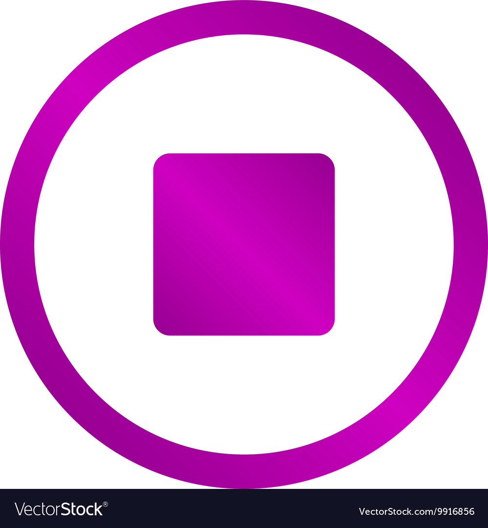 Glossy multimedia icon stop vector image