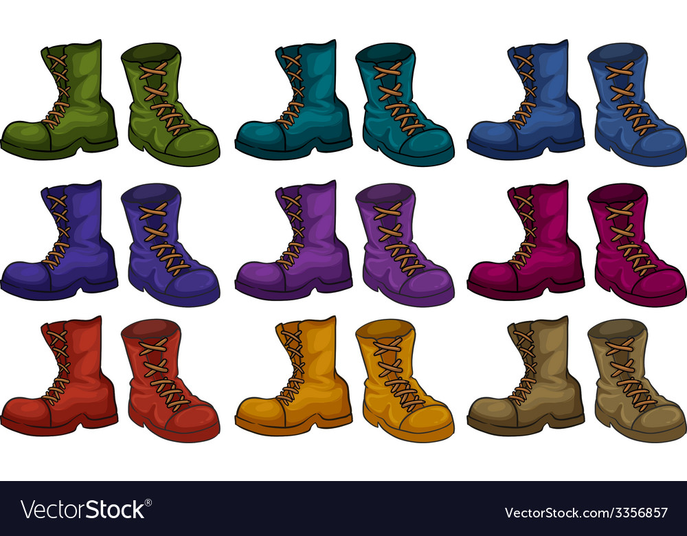 Boots set vector image