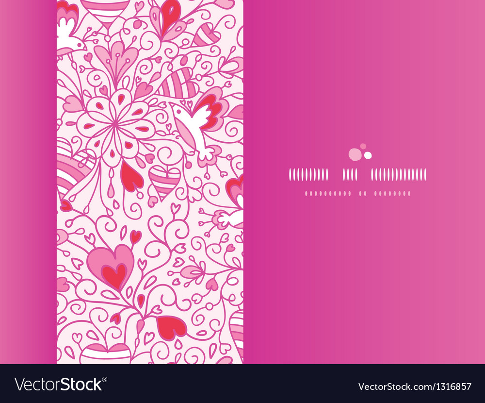 Love garden horizontal pattern background vector image