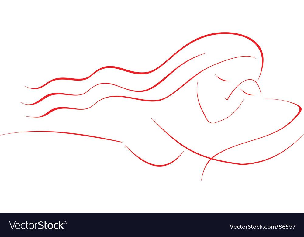 Sleeping girl vector image