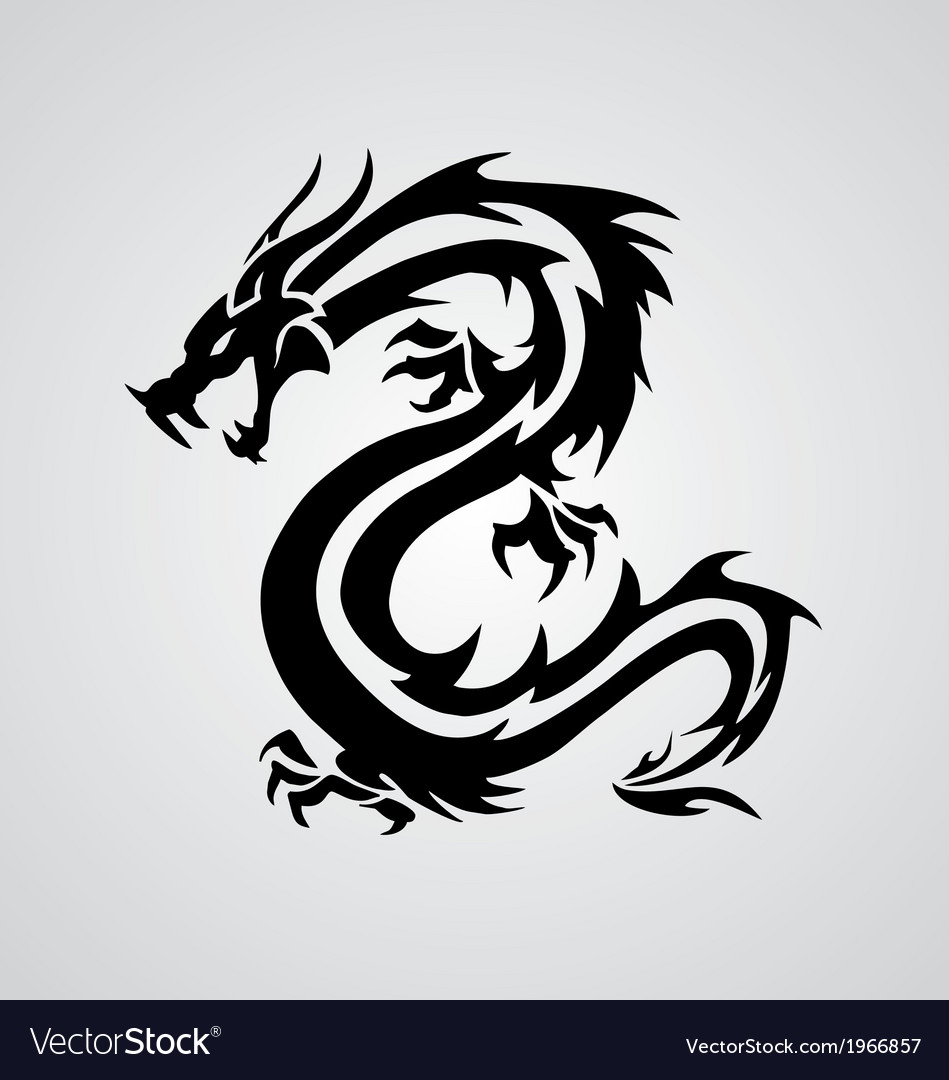 Year Of The Dragon Tattoo Design