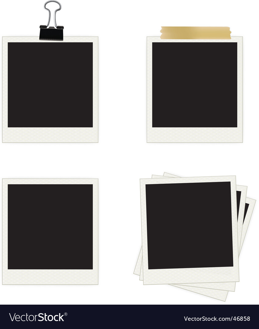 Photo frames collection vector image