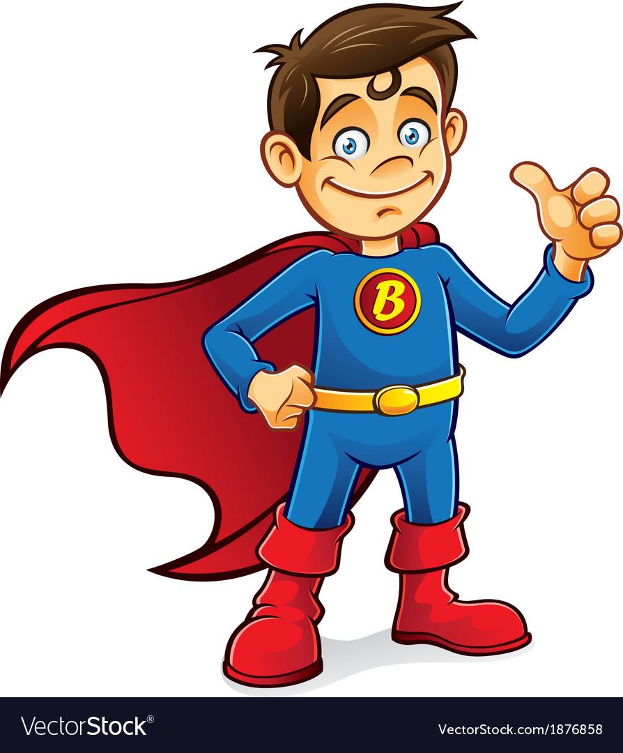Superhero Boy vector image