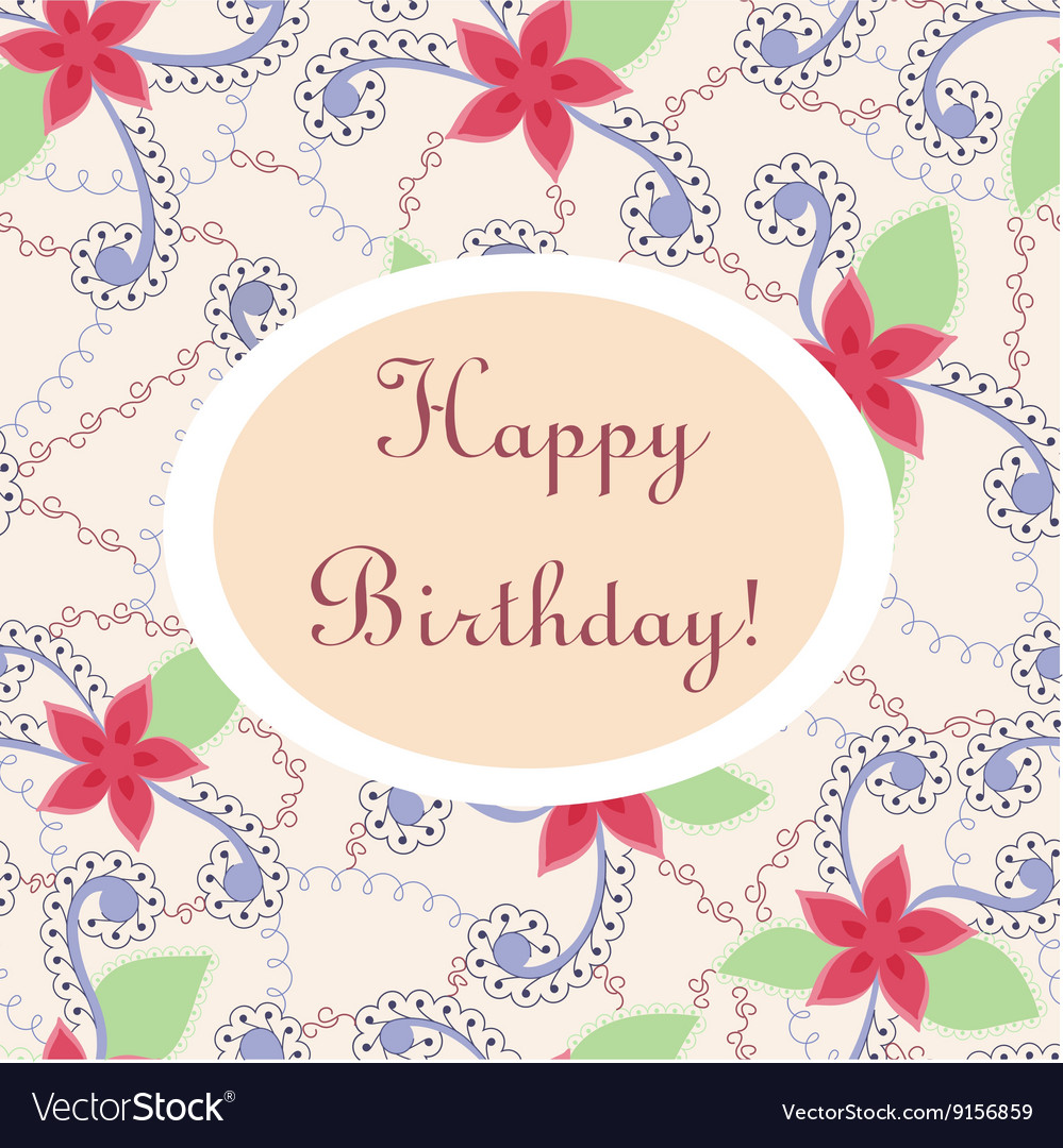 Happy birthday vintage card royalty free vector image happy birthday vintage card vector image bookmarktalkfo Image collections