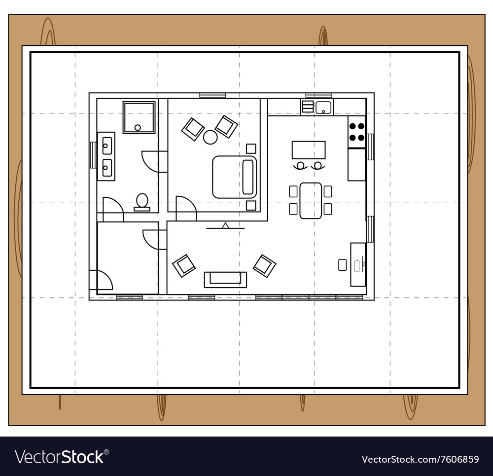 House plan Royalty Free Vector Image - VectorStock