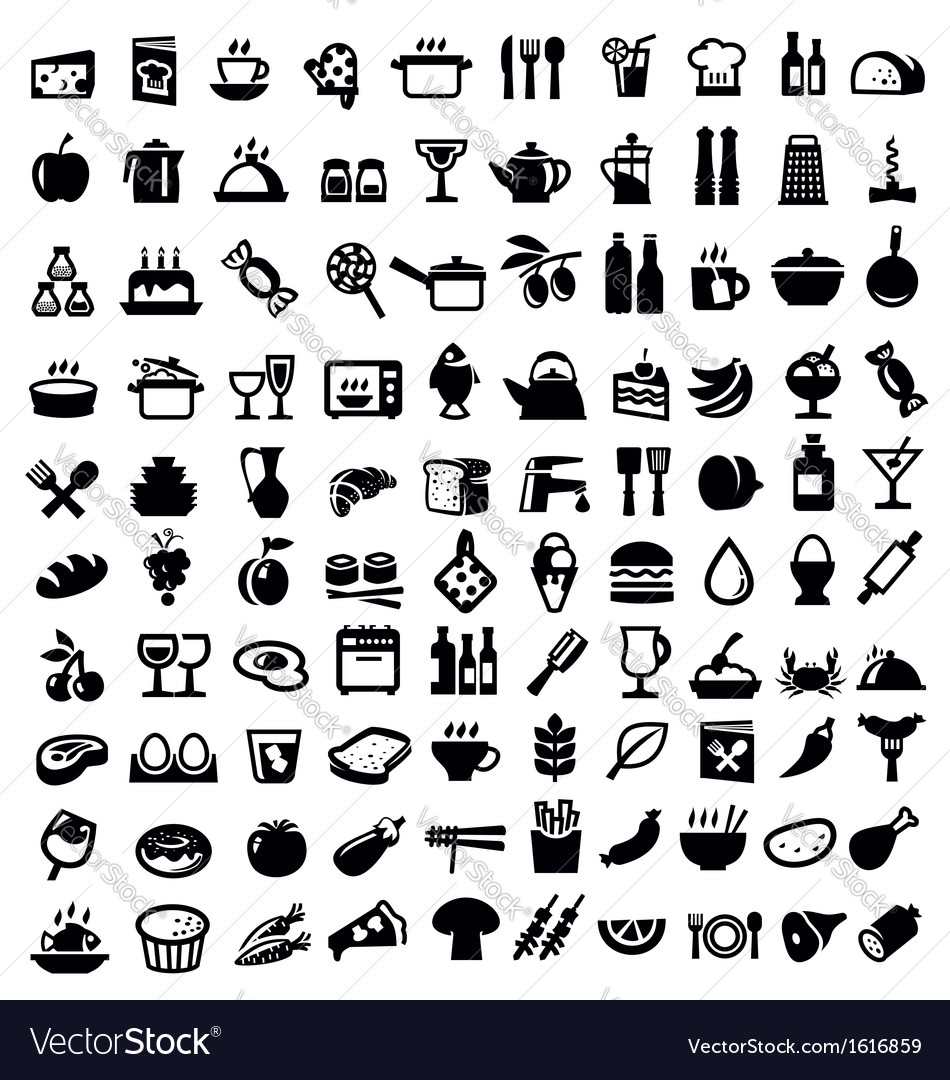 Kitchen and food icon vector image