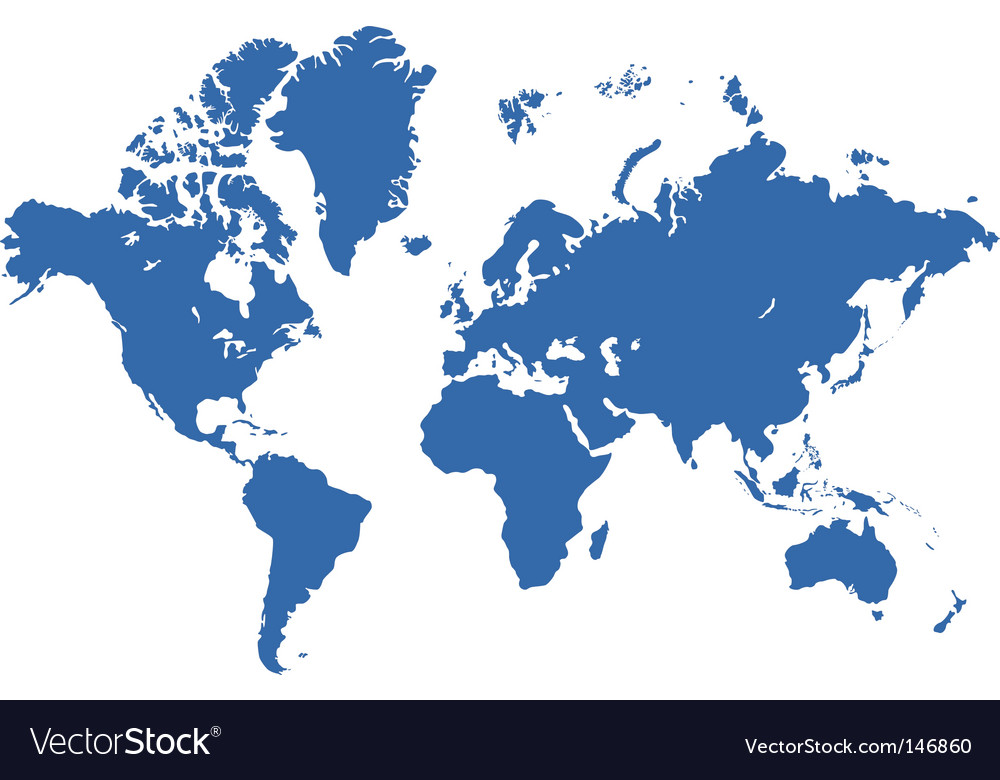 World map live traced vector image