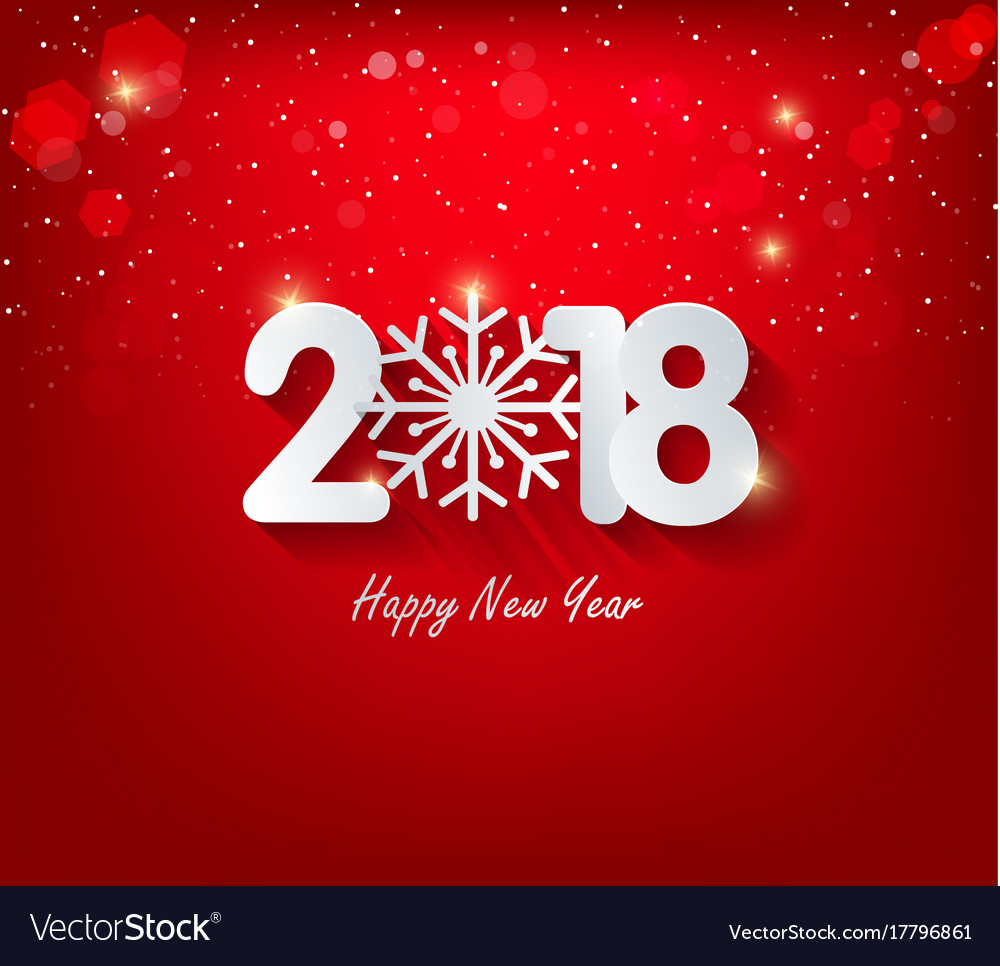 Happy new year 2018 greeting card and chinese new vector image kristyandbryce Choice Image