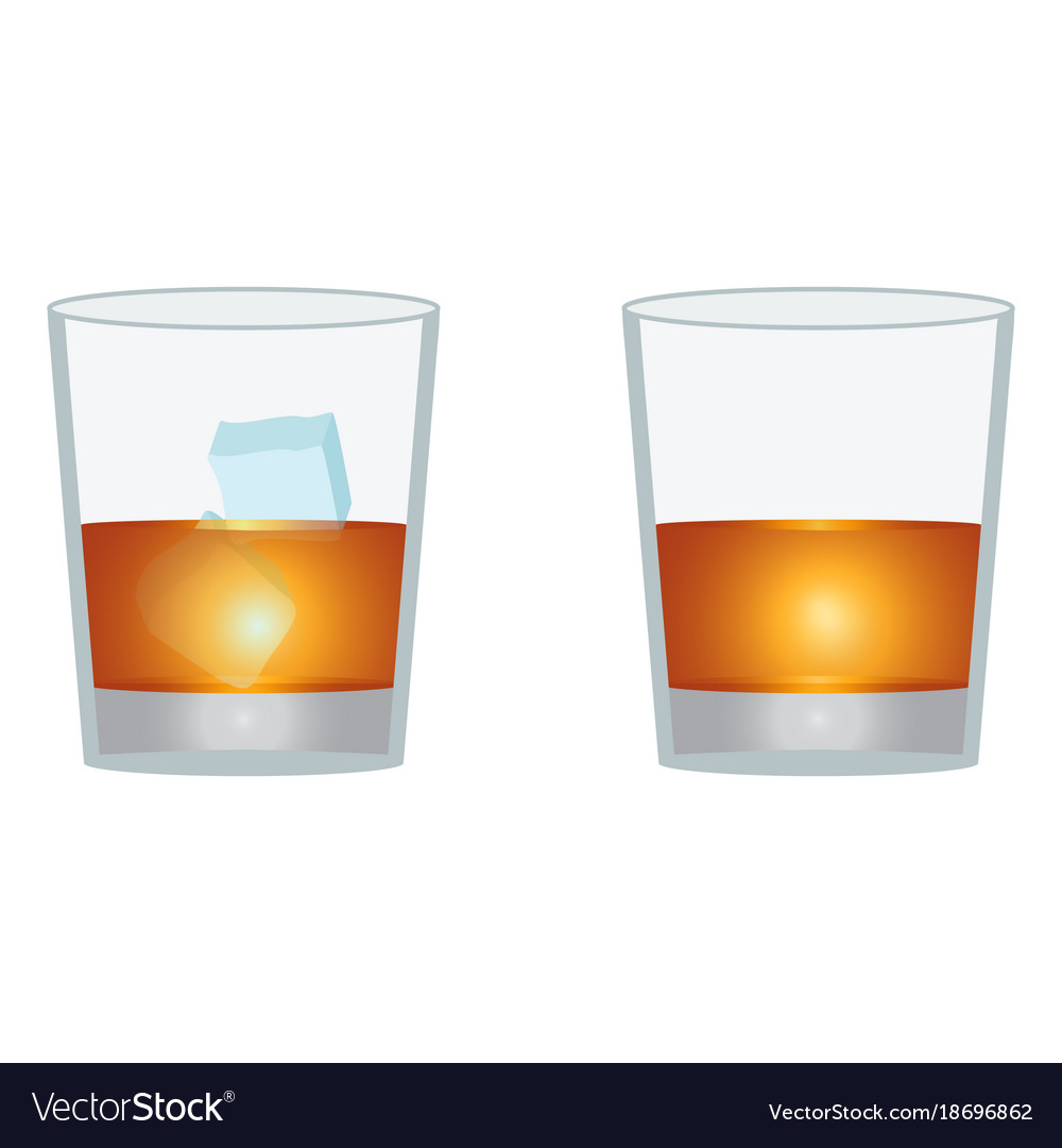 Glass of scotch whiskey vector image