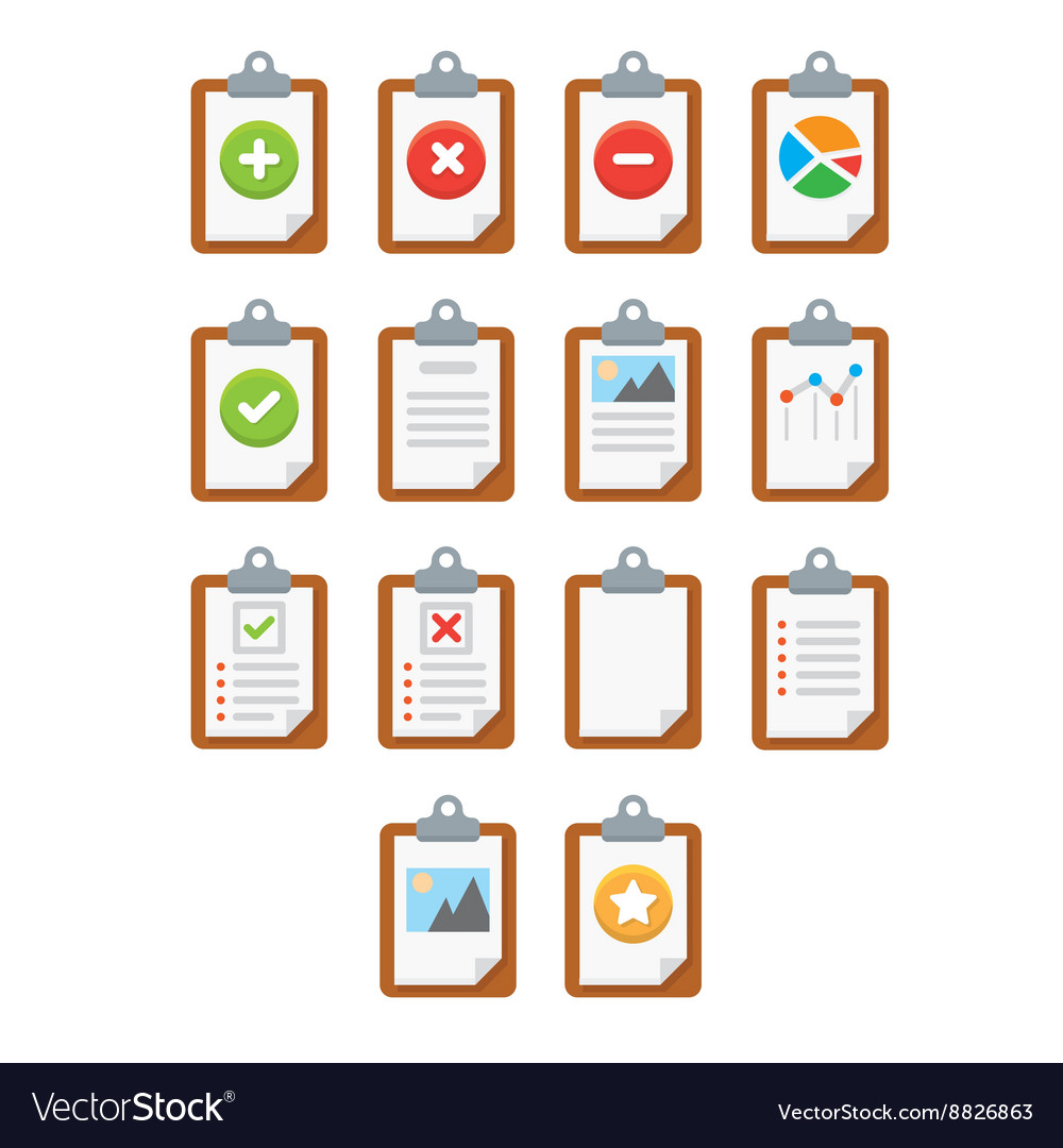 Paper icons Document icon EPS10 vector image