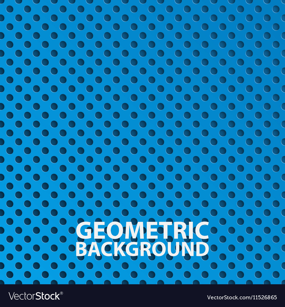 Creative 3D abstract blue geometric background vector image