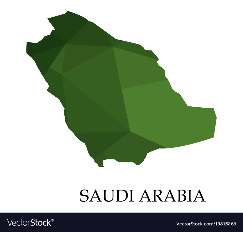 Saudi arabia map on white background Royalty Free Vector