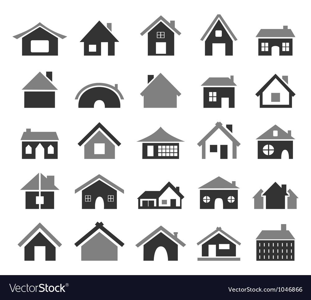 Home icon4 vector image