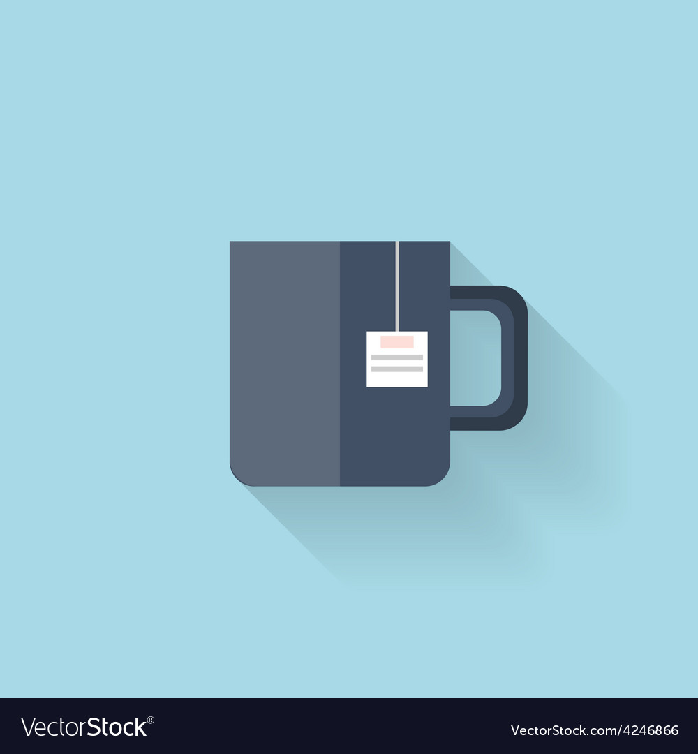 Flat web icon Tea cup vector image