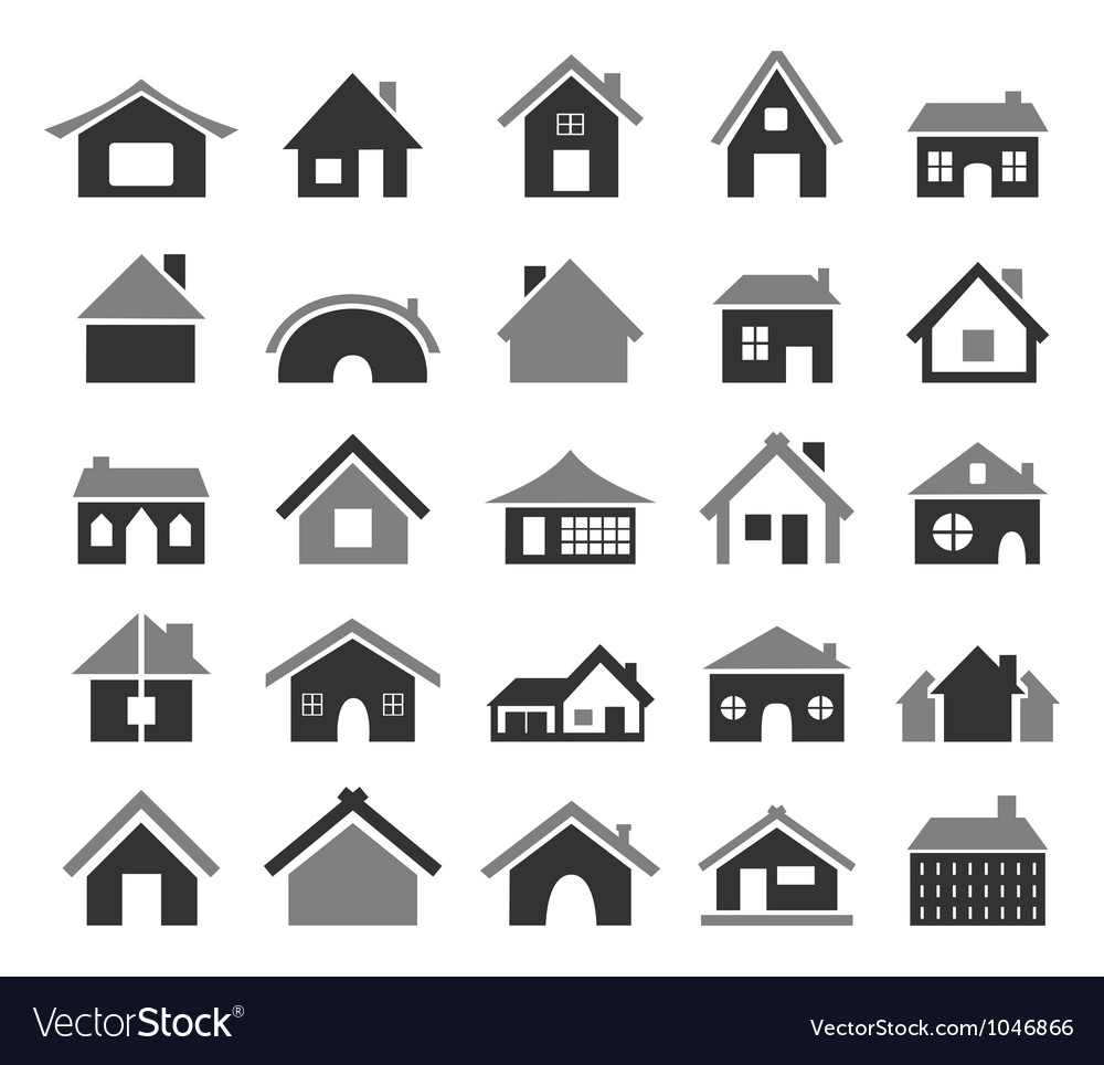 Home icon4 vector image