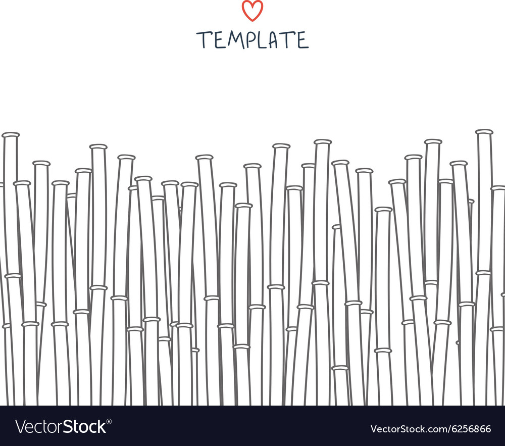 Template with bamboo Japanese background vector image