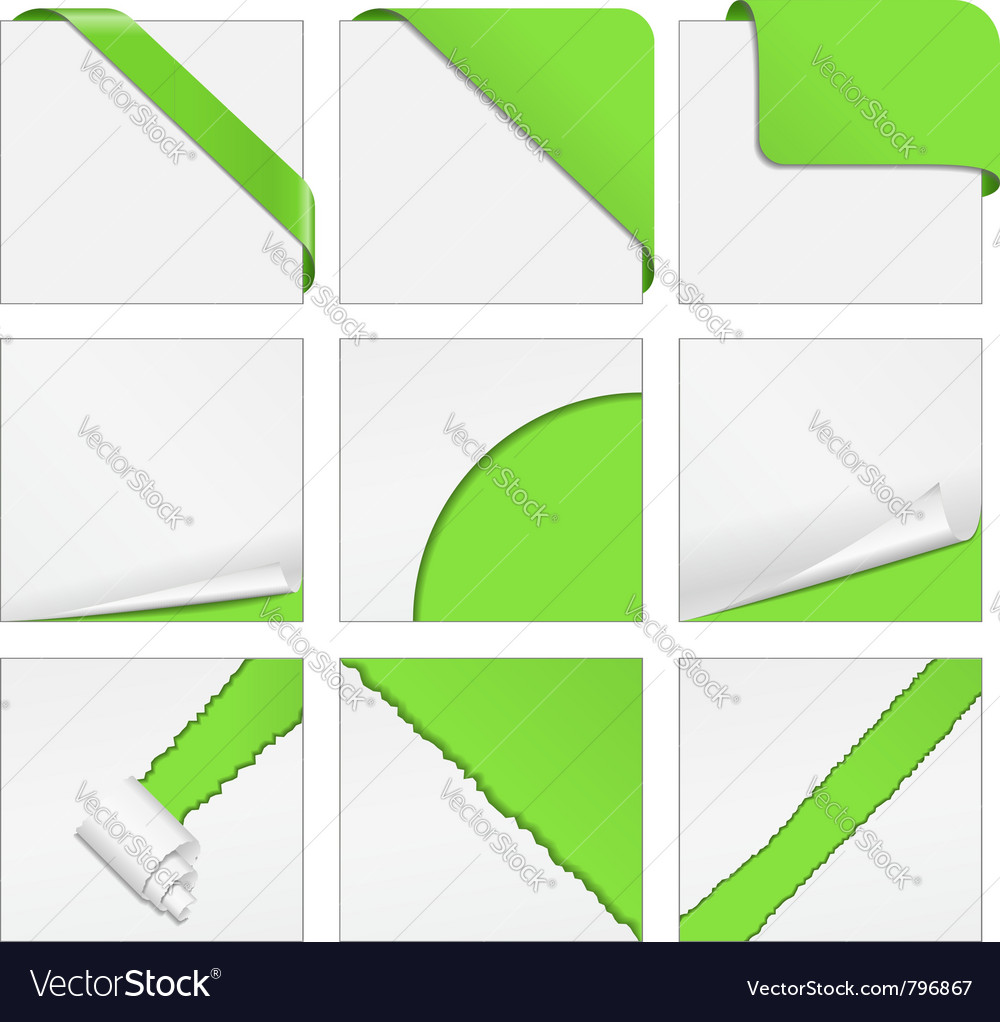Corner design elements vector image
