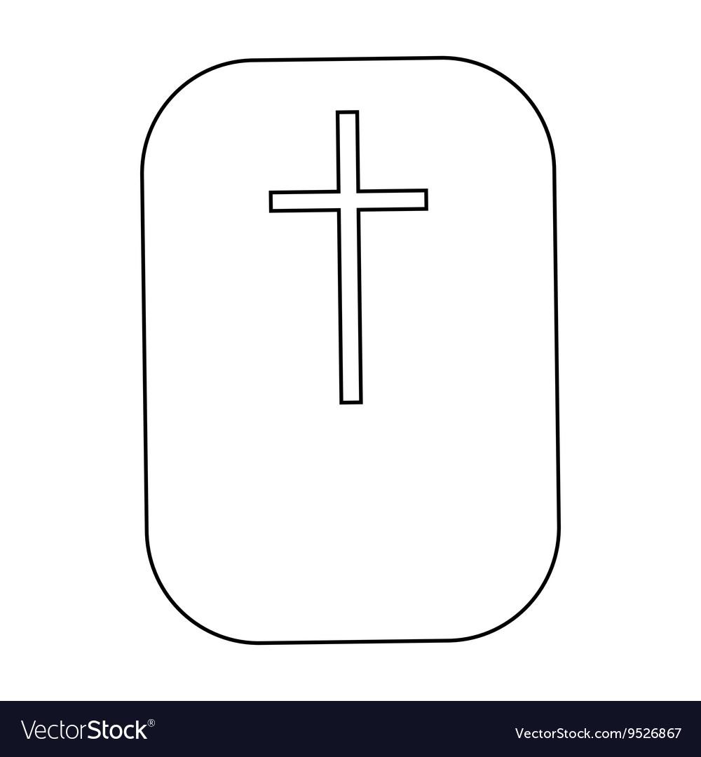 Cross christian faith symbol icon outline style vector image biocorpaavc Gallery