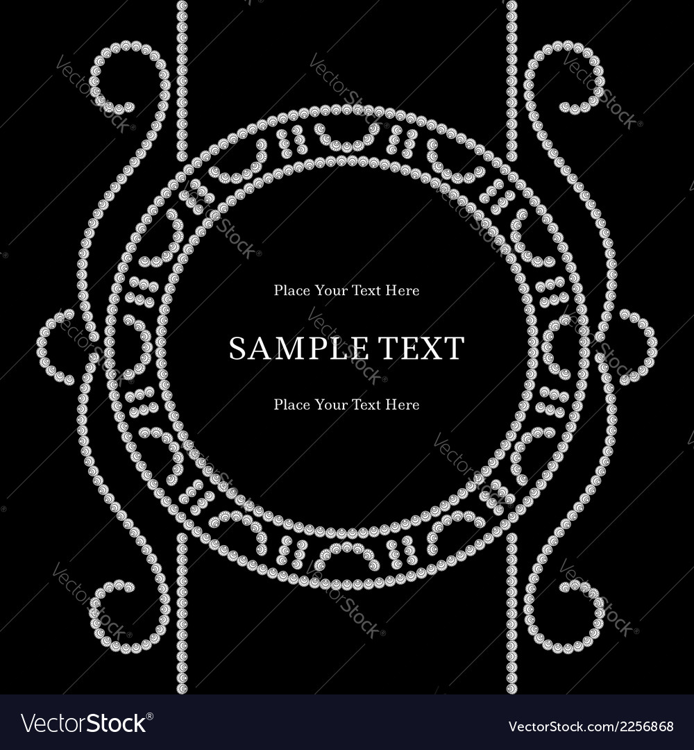 Dotted label vector image