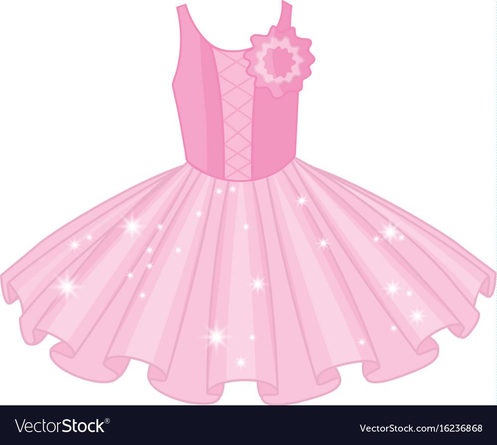 Soft Pink Ballet Tutu Dress Vector Image